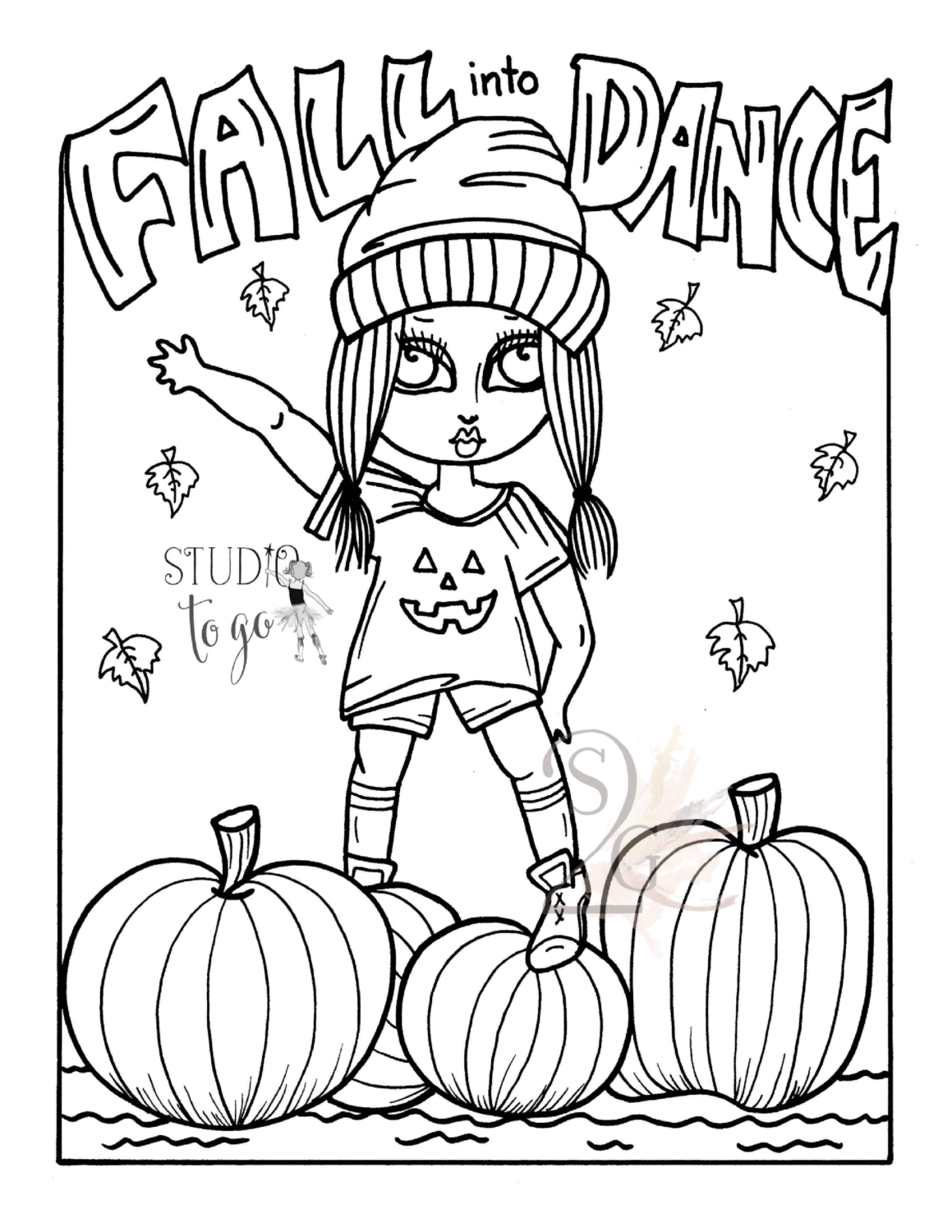 October Color Sheet Printable Coloring